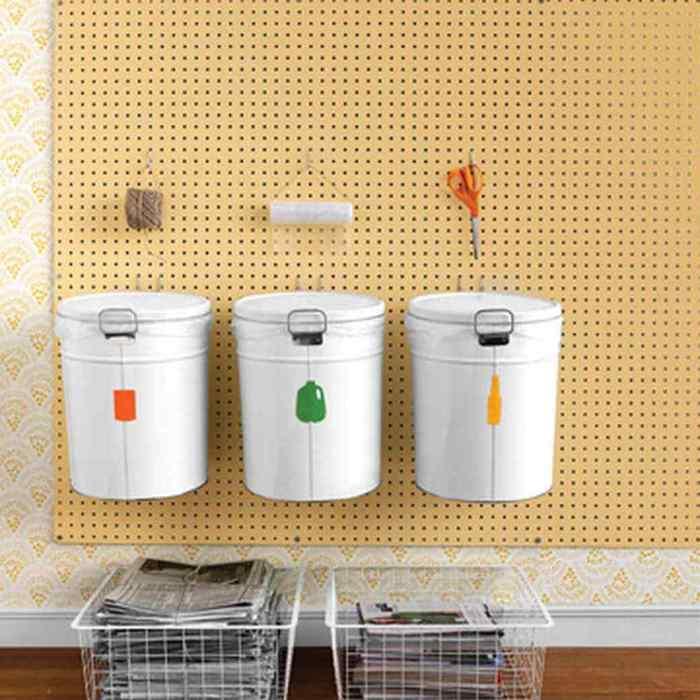 Раздельный сбор мусора в пределах домашней кухни.