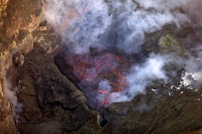 Гора Эребус - самый южный действующий вулкан в мире.