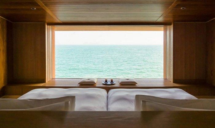Вид из номера плавучего отеля «Guntu».