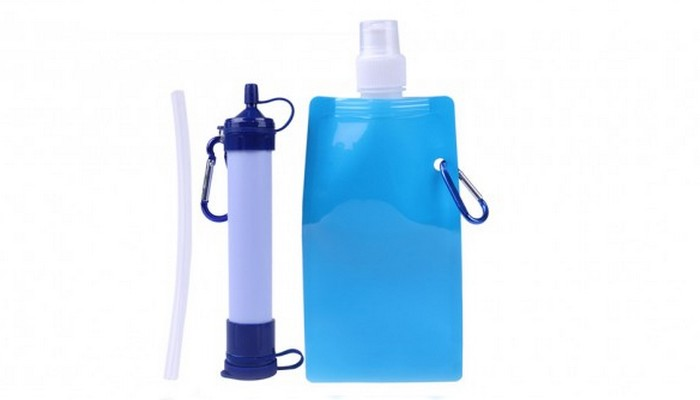 Портативный фильтр для очистки воды Survival Straw and Pouch.