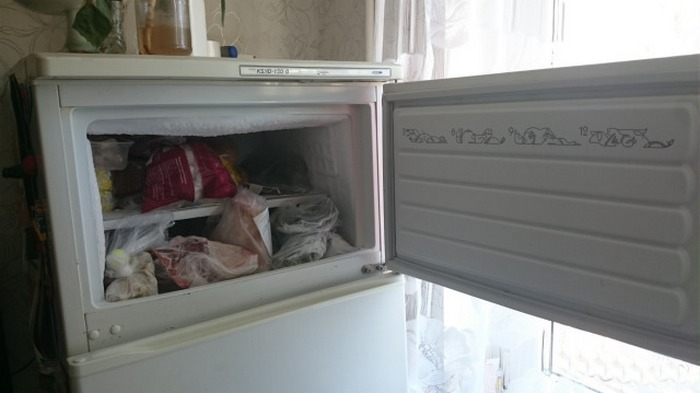 Самое традиционное решение - холодильная камера сверху.