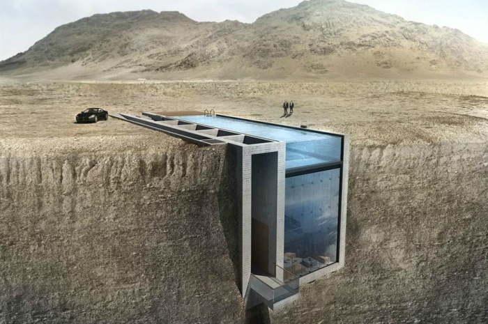 И ещё один вариант дома на скале.