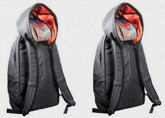 Полезный гаджет для дома: «Рюкзак с капюшоном».