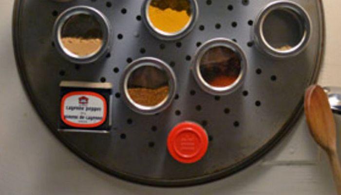 Контейнеры для специй с магнитным дном.