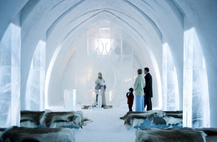 Свадьба в ледяном отеле.