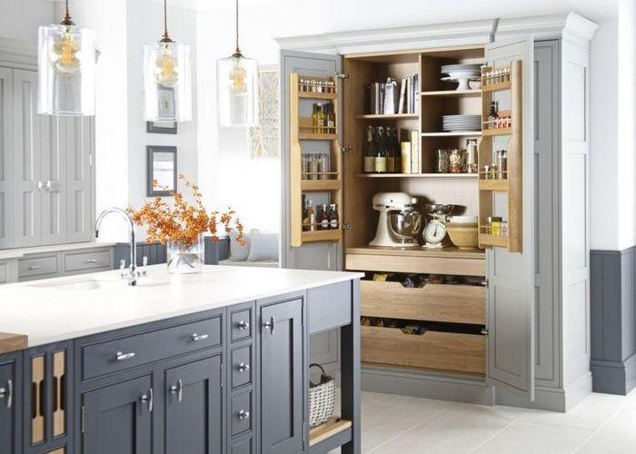Хорошая идея для дома: места для хранения на кухне.