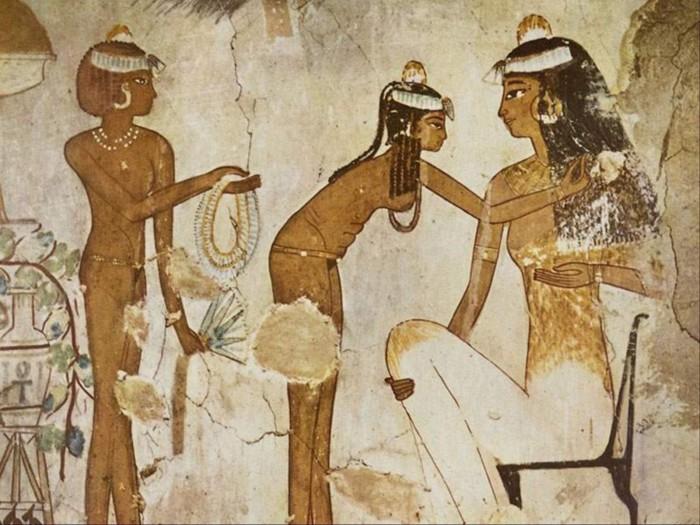 Эпиляция воском и другие гигиенические процедуры в Древнем Египте.