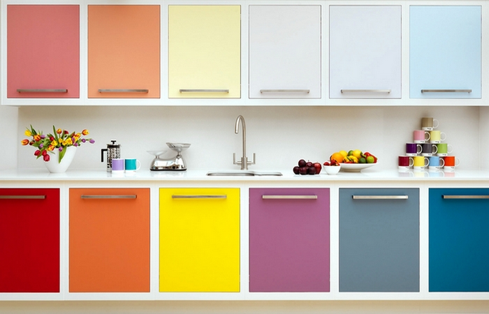 Покрасить шкафчики.