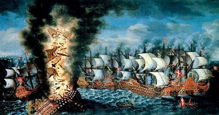 Бой, в котором участвовал военный корабль Kronan.