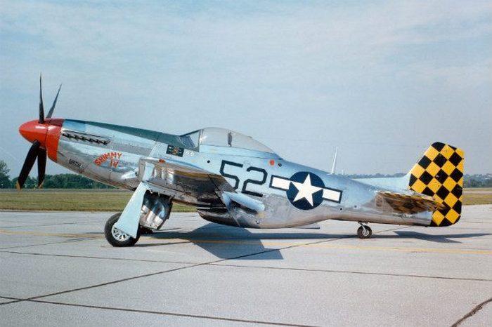 Истребитель Mustang времен Второй Мировой