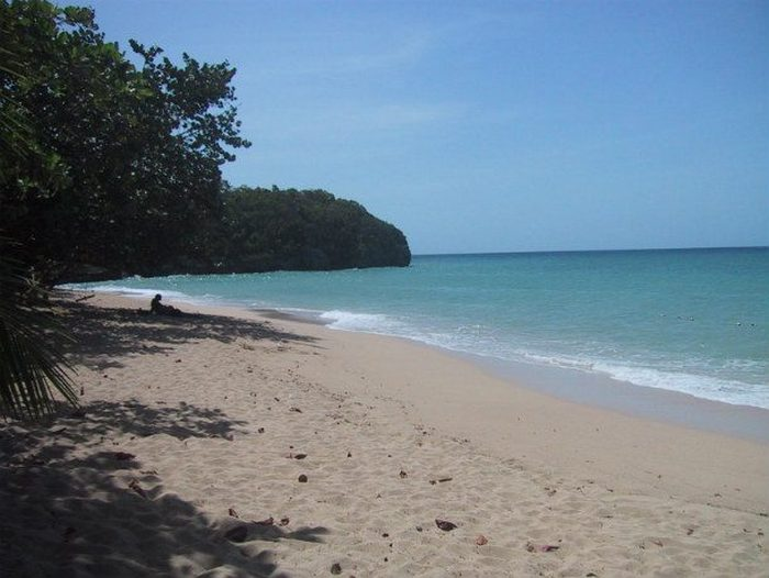 Огромный кусок пляжа