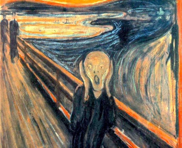 Картина «Крик» Эдварда Мунка.