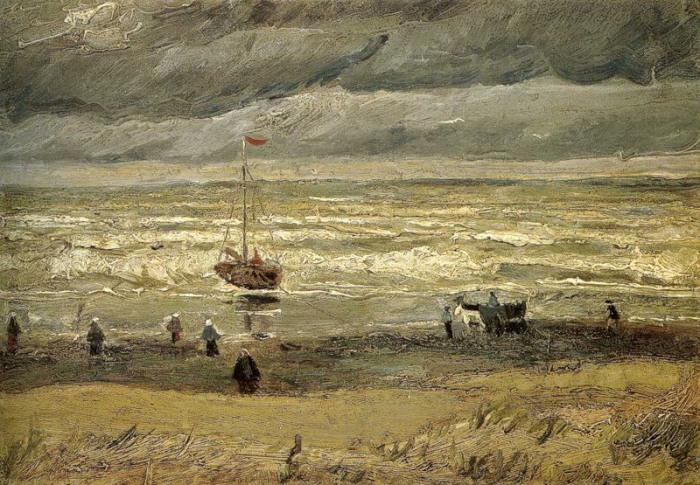 Вид на море у Схевенингена. Ван Гог.