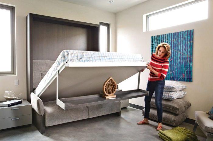 Удобный интерьер: подъёмные кровати для любых квартир.