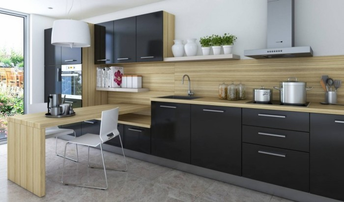 Какой может быть деревянная кухня.
