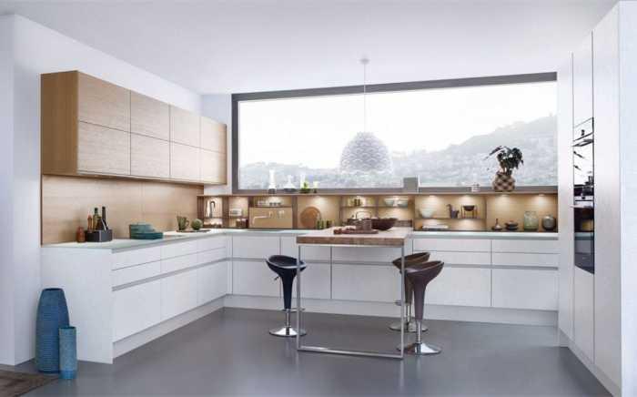 Кухня в стиле хай-тек.