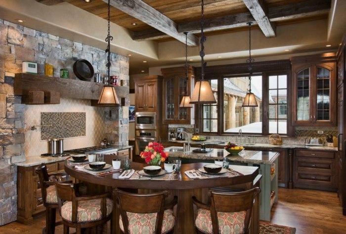 Кухня в стиле шале.