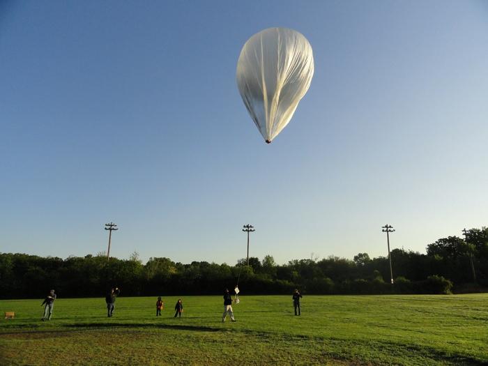 Солнечный воздушный шар.