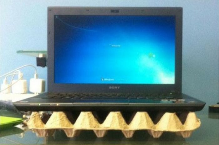 Альтернативный вентилятор для ноутбука.