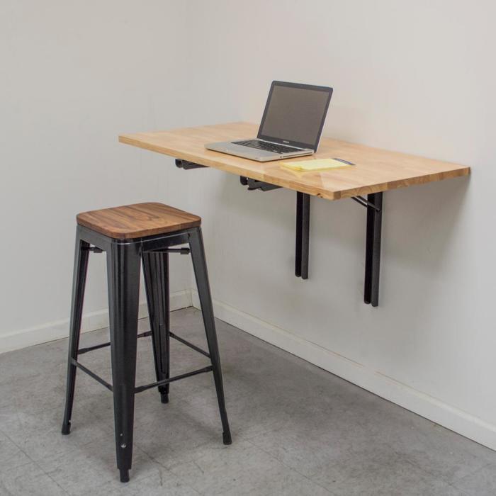 Складной настенный стол - компактно и эффектно.