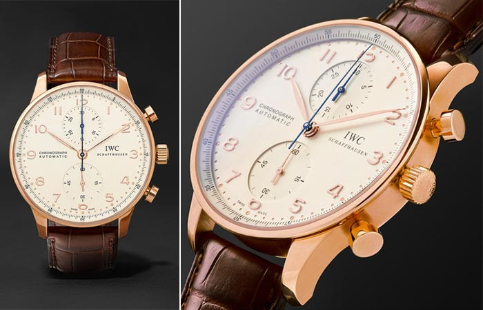 Часы от IWC «Schaffhausen Portugieser Chronoscope».