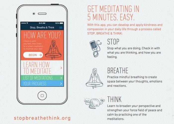 Приложение «Stop, Breath & Think».