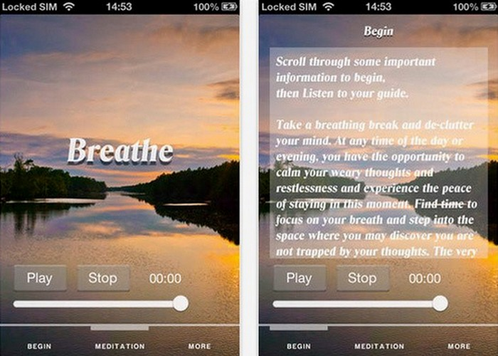 Приложение «Room to Breathe Meditation».