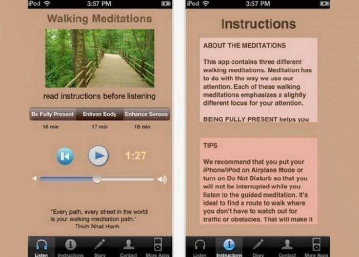 Приложение «Walking Meditation».