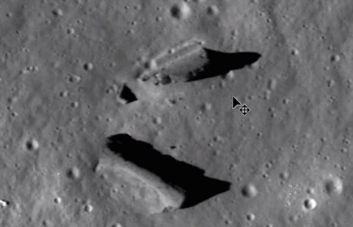 Искусственные структуры Луны.