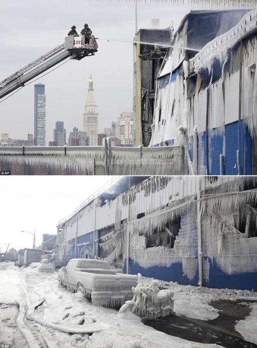 После пожара в Бруклине.