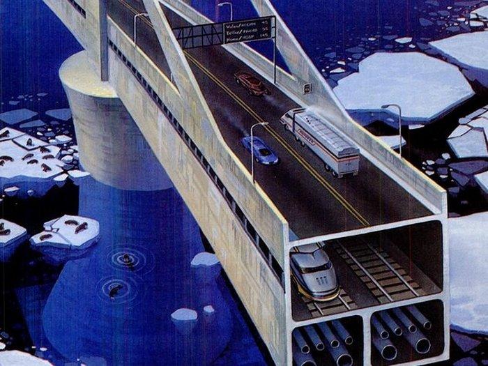 Проекты межконтинентальных мостов и тоннелей.