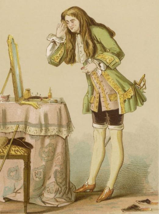 Чулки не всегда были прерогативой женщин. Так выглядел типичный французский франт 17-го - 18-го веков. Картина написана в период с 1674 - 1762.