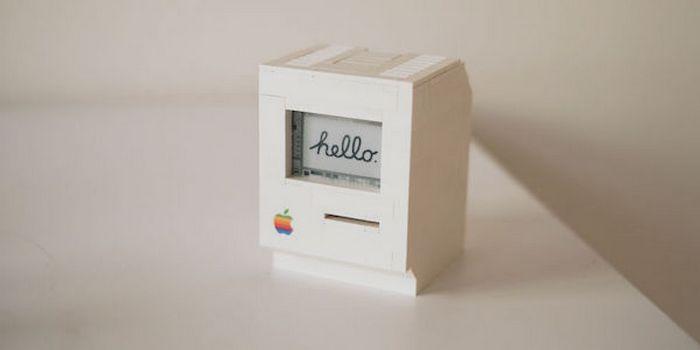 Lego Mac - крошечный Macintosh Classic с дисплеем из электронной бумаги.