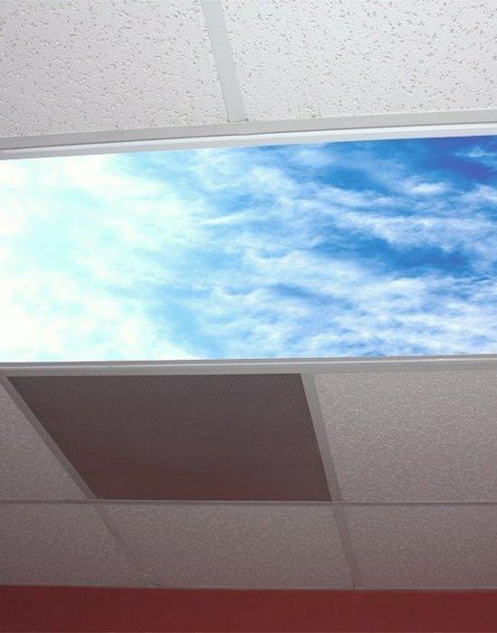 Офисный гаджет: рассеиватель ламп дневного света «Небесная панель».