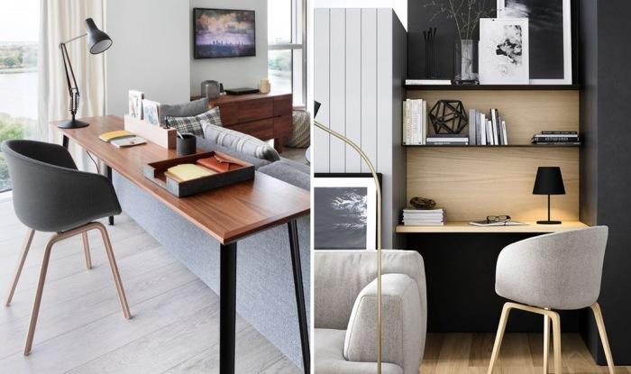 25 бюджетных вариантов обустройства домашнего офиса в гостиной.