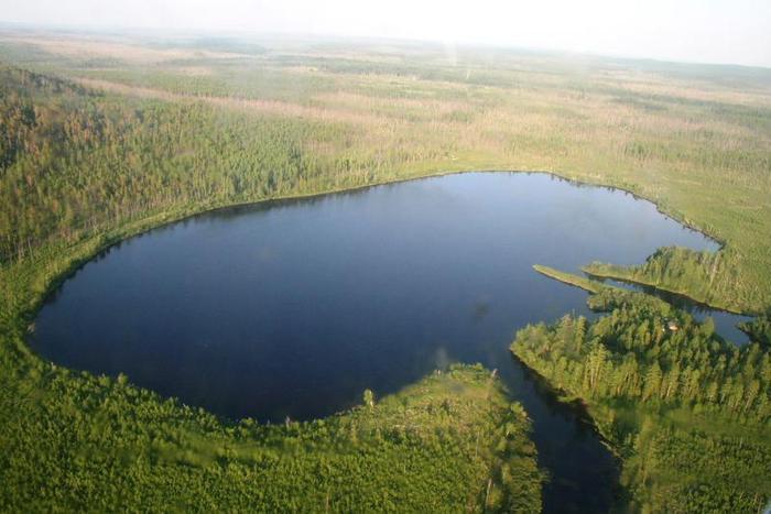 Место падения Тунгусского метеорита.
