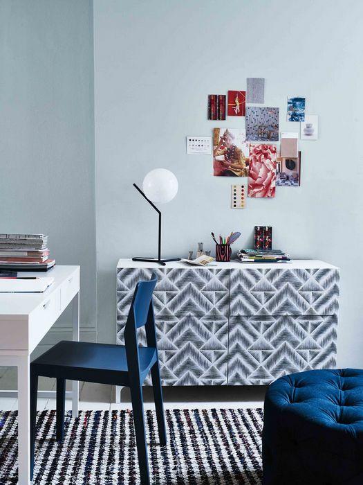 Шаблонные паттерны в дизайне интерьера дома: «Обои не только на стенах».
