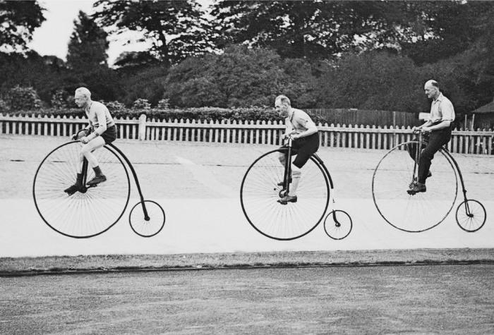 Первый в мире велосипед.