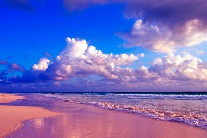 Розовый пляж «Грейт-Санта-Круз».