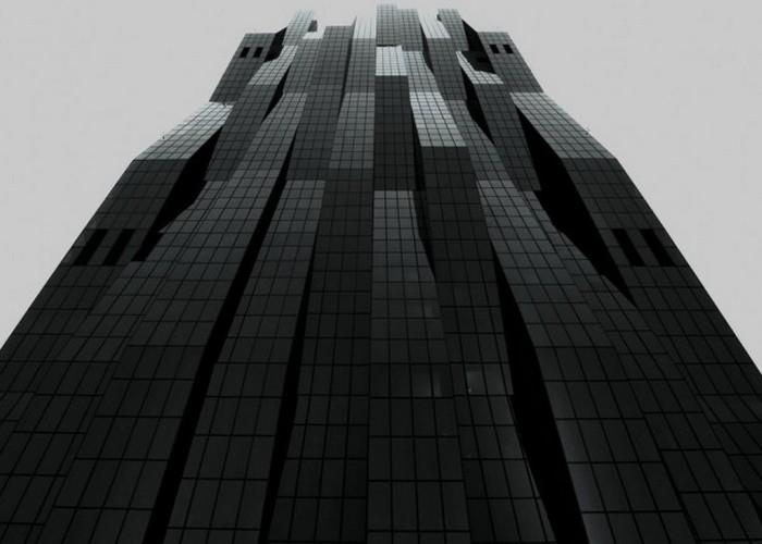 Пугающая башня DC в Вене.
