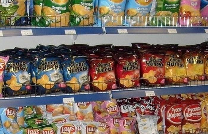 Раскладка чипсов по весу и размеру.
