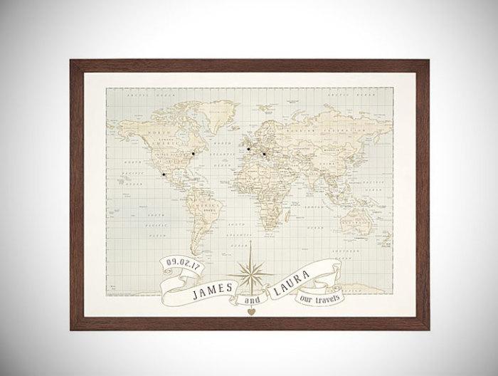 Юбилейная карта мира.
