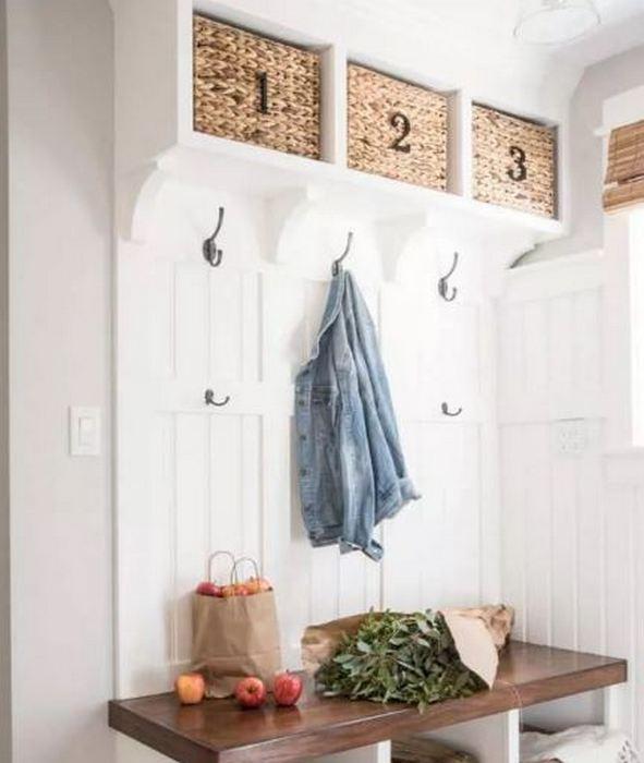 Стильные плетенные корзины ля хранения.