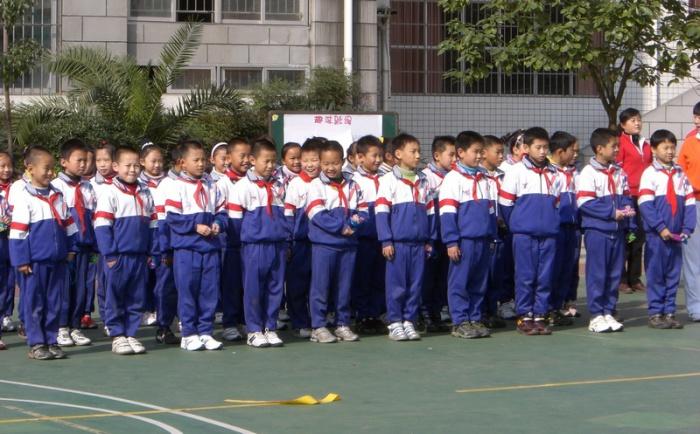 Китайская школьная форма - самая спортивная.