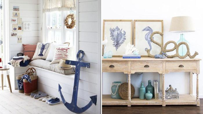 25 способов создать прихожую в стиле домика на морском побережье.