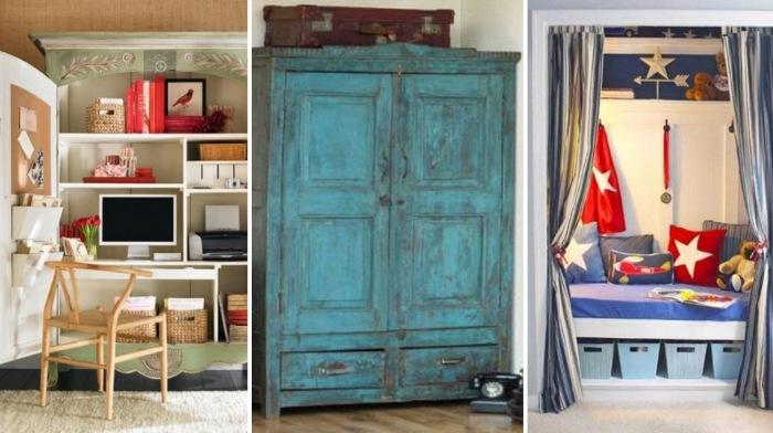 5 способов превратить ненужный шкаф в полезное место в доме.
