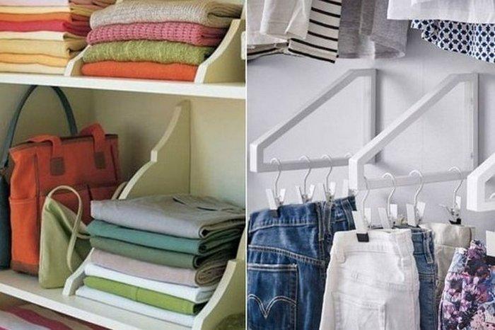 Идеальный порядок в шкафу.