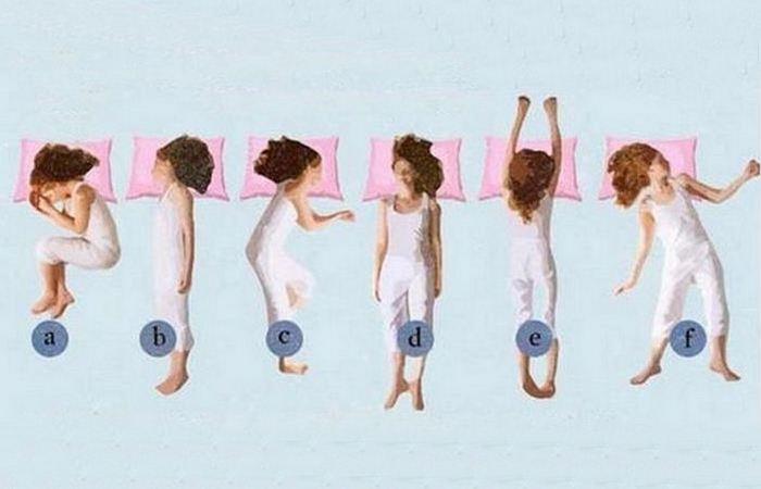 Наиболее распространенные позы сна.