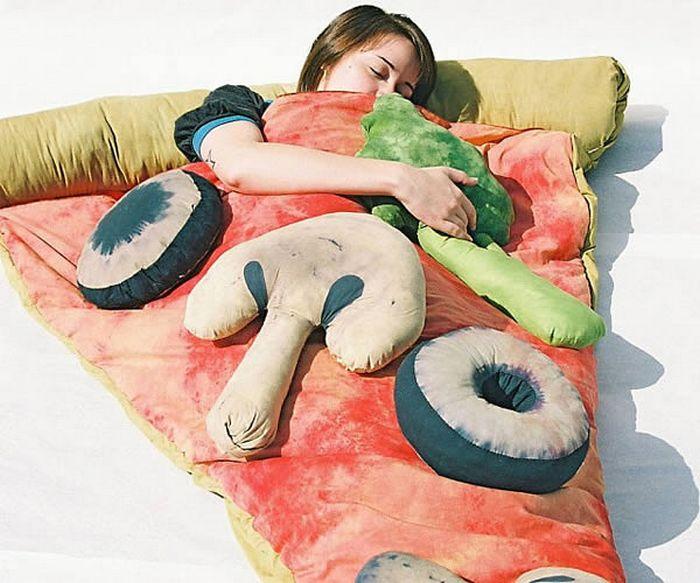Спальный мешок-пицца