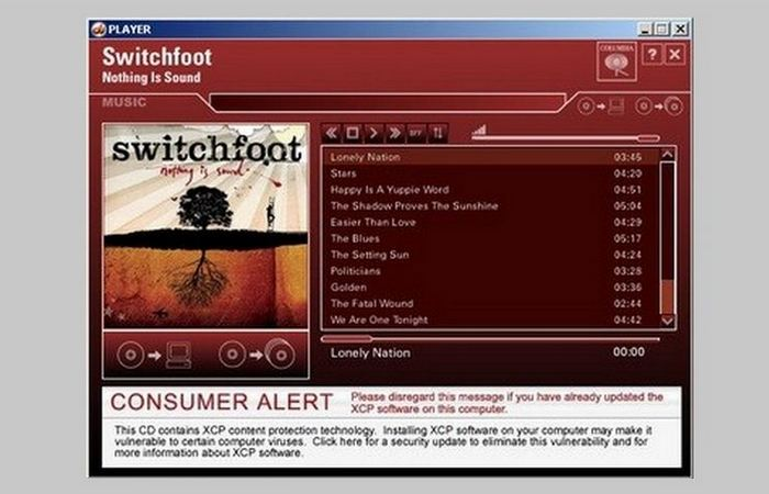 ПО Sony BMG Rootkit.